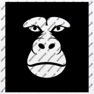 Monkey Svg File-Gorilla Svg Design-Clipart-Animals Svg File-Animals Png-Monkey Gorilla Vector Graphics-Svg For Cricut-For Silhouette - SVG - EPS - PDF - DXF - PNG - JPG - AI