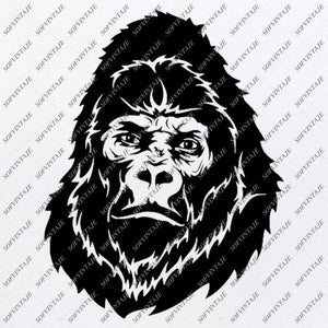 Monkey Svg File-Monkey Svg Design-Clipart-Animals Svg File-Animals Png-Monkey Vector Graphics-Svg For Cricut-For Silhouette - SVG - EPS - PDF - DXF - PNG - JPG - AI