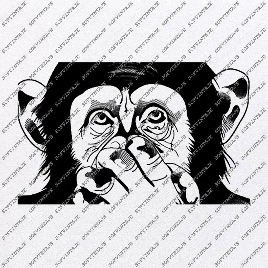 Monkey Svg File-See Nothing See Nothing Say nothing Svg Design-Clipart-Animals Svg-Png-Vector Graphics-Svg For Cricut-For Silhouette-DXF-EPS