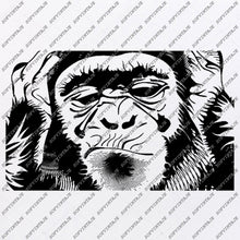 Load image into Gallery viewer,  Monkey Svg File-See Nothing See Nothing Say nothing Svg Design-Clipart-Animals Svg-Png-Vector Graphics-Svg For Cricut-For Silhouette-DXF-EPS