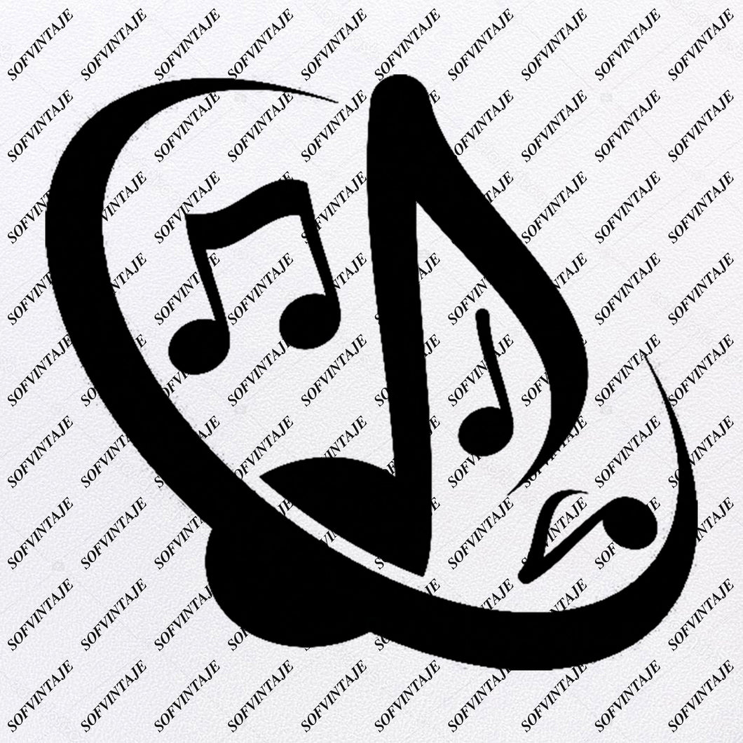 Music Note Stop Music Svg File-Music Svg Design-Clipart-Music Svg File-Note Png-Vector Graphics - Svg For Cricut-For Silhouette - SVG - EPS - PDF - DXF - PNG - JPG - AI