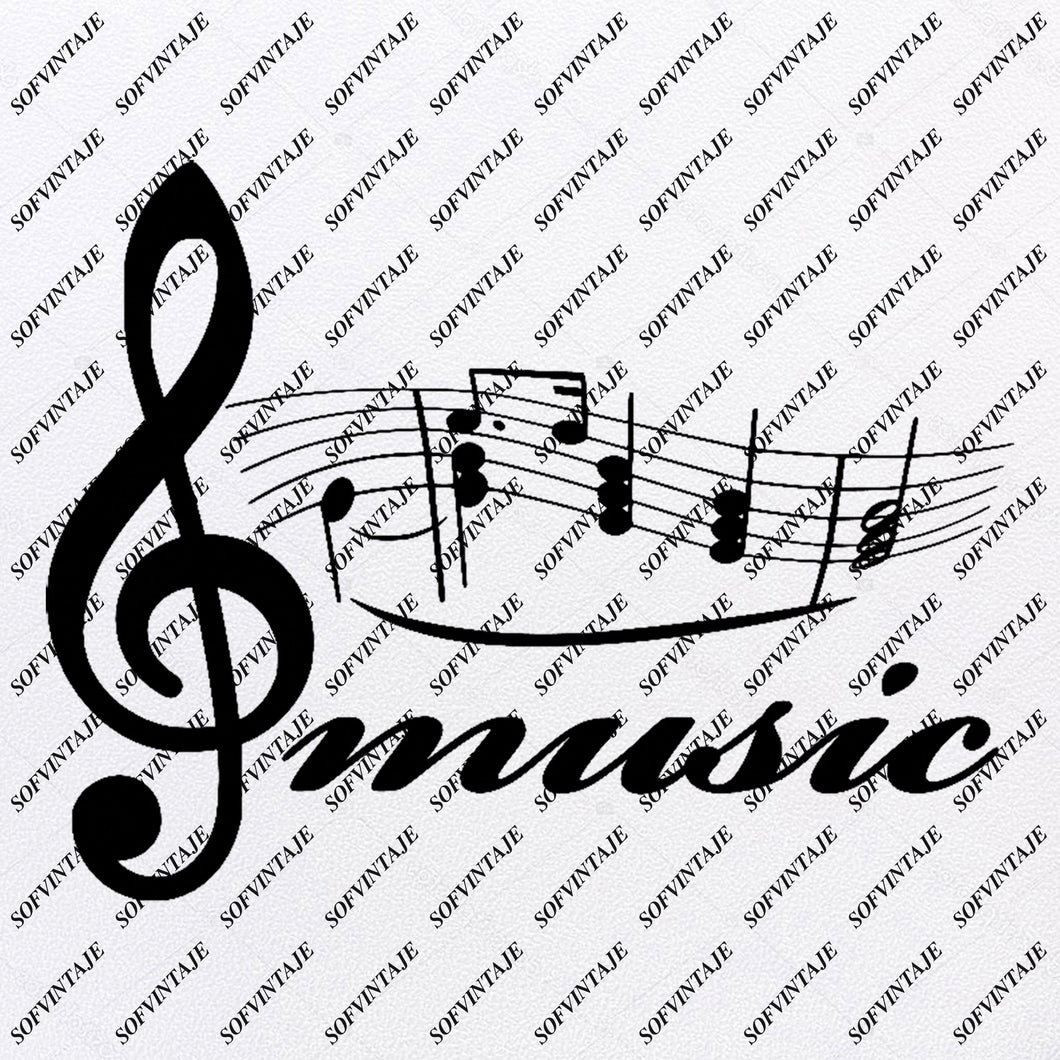 Music Note Svg File-Music Svg Design-Clipart-Music Svg File-Music Png-Vector Graphics - Svg For Cricut-For Silhouette - SVG - EPS - PDF - DXF - PNG - JPG - AI