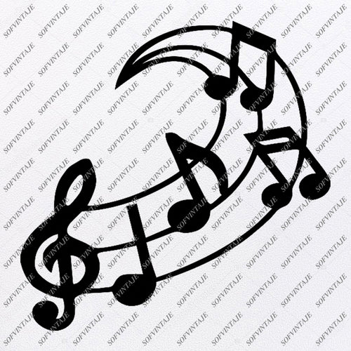 Heart Musical Notes Svg File For Cricut Musician Vector Pin On