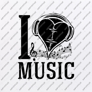 Music is My Life Svg File-Music Svg Design-Clipart-Music Svg File-Music Png-Vector Graphics - Svg For Cricut-For Silhouette-SVG - EPS - PDF - DXF - PNG - JPG - AI