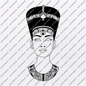 Nefertiti Svg File-Nefertiti Original Design-Nefertiti Clip art-Nefertiti Svg Files-Nefertiti Clipart-Svg For Cricut-For Silhouette-DXF-EPS