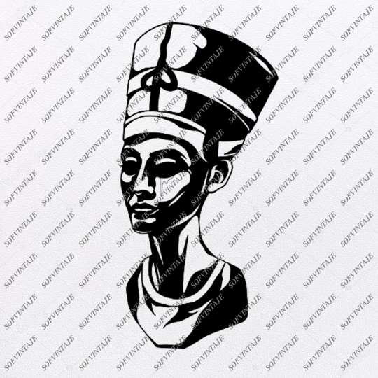 Nefertiti Svg File-Nefertiti Original Design-Nefertiti Clip art-Nefertiti Svg Files-Nefertiti Clipart-Svg For Cricut-For Silhouette -SVG - EPS - PDF - DXF - PNG - JPG - AI