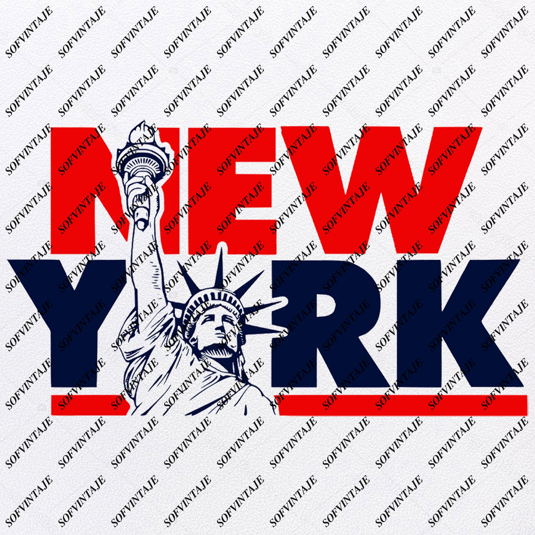 New York - Statue of Liberty  Svg File-Country Usa Original Design- Statue of Liberty Clip art-Usa Country Svg Files-Clipart-Svg For Cricut-For Silhouette - SVG - EPS - PDF - DXF - PNG - JPG - AI