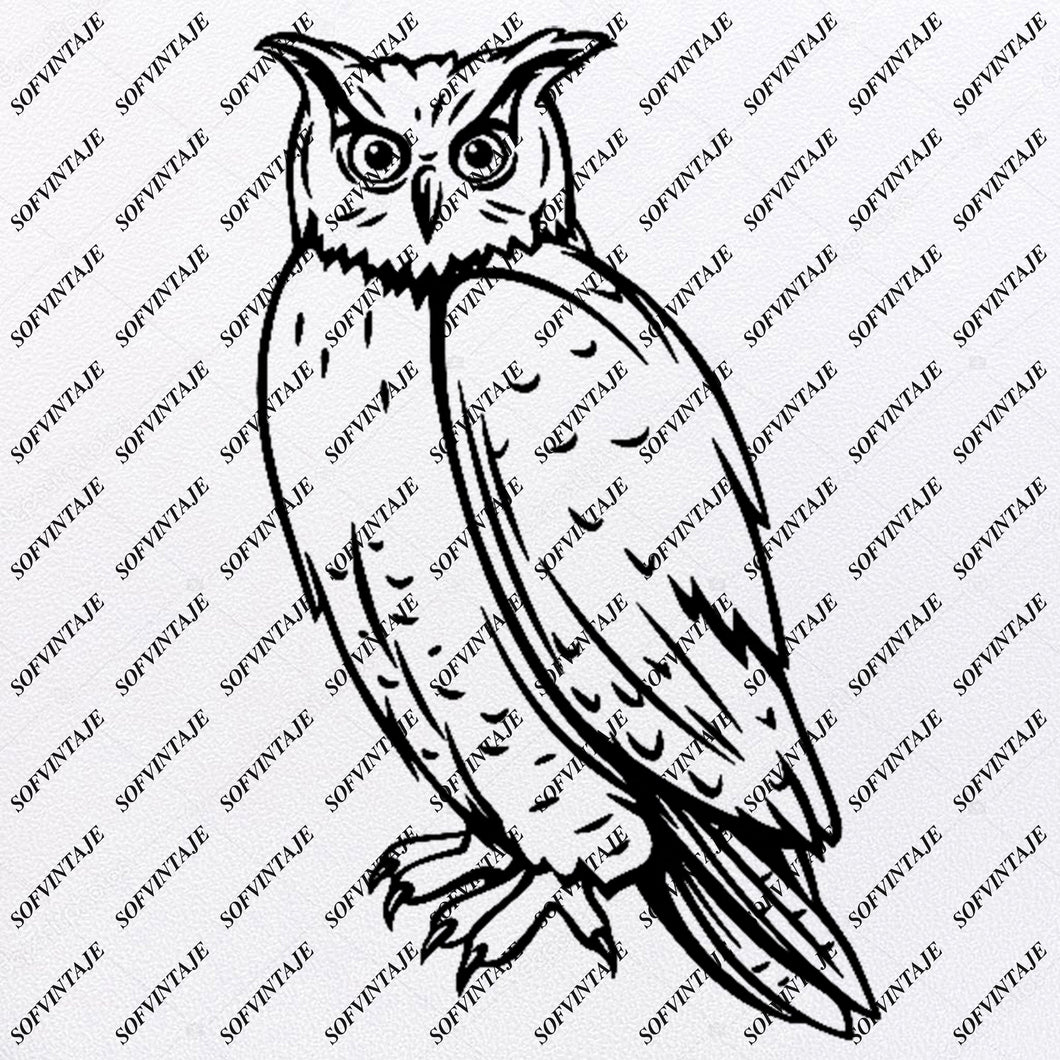 Owl - Owl Svg File - Owl Tattoo Svg Design - Clipart - Animals Svg File - Animals Png - Vector Graphics - Svg For Cricut - For Silhouette - SVG - EPS - PDF - DXF - PNG - JPG - AI