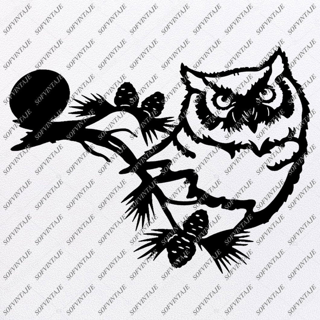 Owl Svg File - Owl Ornament - Birds Svg - Owl Clip art - Wild Birds Png - Vector Graphics - Svg For Cricut - Svg For Silhouette - SVG - EPS - PDF - DXF - PNG - JPG - AI