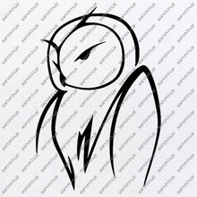 Load image into Gallery viewer, Owl Svg File - Owl Tattoo Svg Design-Clipart-Animals Svg File-Animals Png-Vector Graphics -Svg For Cricut-For Silhouette - SVG - EPS - PDF -DXF - PNG - JPG - AI