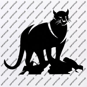 Panther Svg File-Panther Original Svg Design-Animals Svg-Clip art-Panther Vector Graphics-Svg For Cricut-Svg For Silhouette - SVG - EPS - PDF - DXF - PNG - JPG - AI