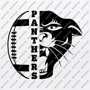 Panthers Football Svg File - Panther Football Svg Design - Panther Svg - Clipart - Svg For Cricut - Svg For Silhouette - SVG - EPS - PDF - DXF - PNG - JPG - AI
