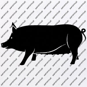 Pig Svg File-Funny Pig Svg Design-Clipart-Animals Svg File-Animals Png-Pig Vector Graphics-Svg For Cricut-For Silhouette - SVG - EPS - PDF - DXF - PNG - JPG - AI