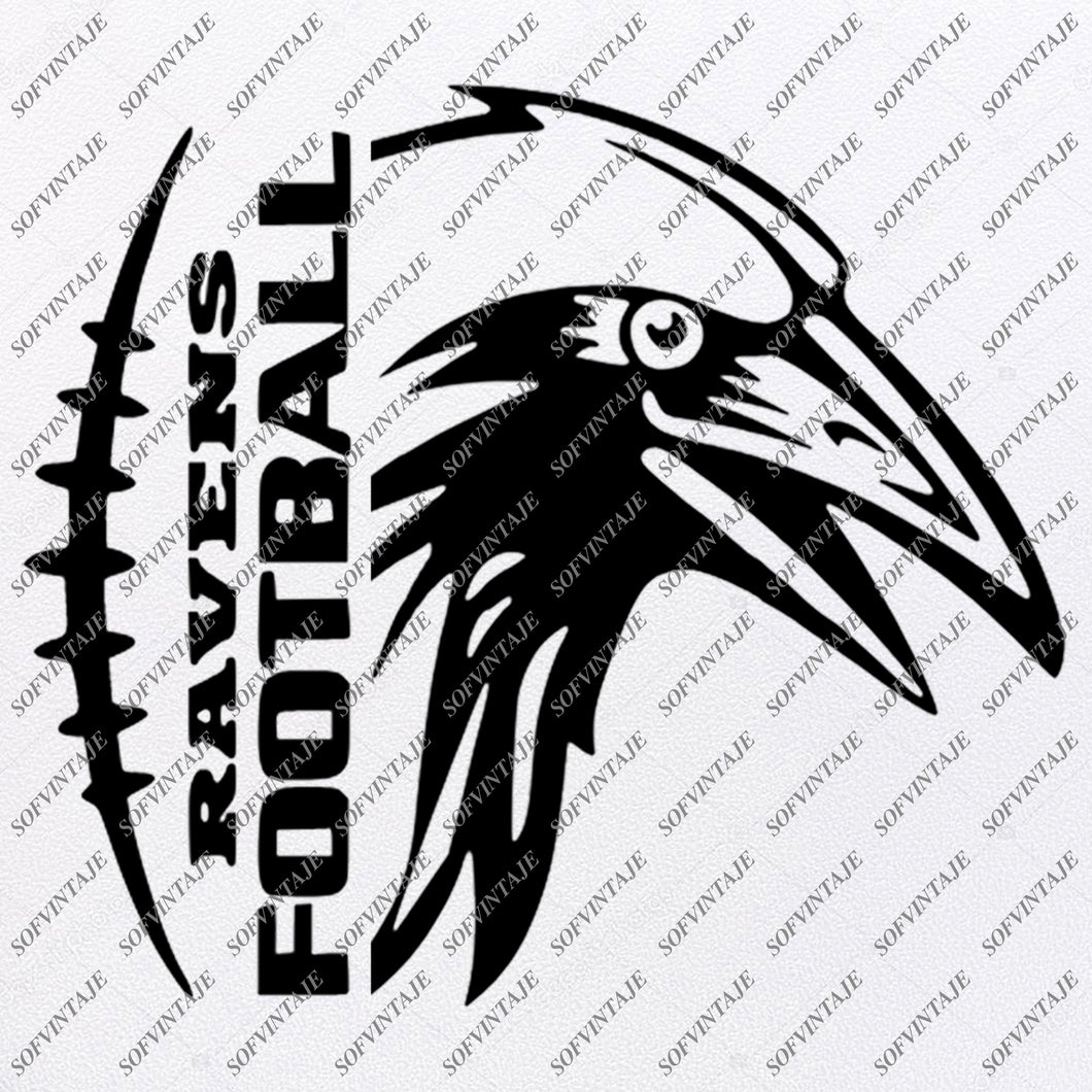Ravens Football Svg - Football Svg - Raven Svg - Football Clip art - Football Team Mascot - Svg For Cricut - Svg For Silhouette - SVG - EPS - PDF - DXF - PNG - JPG - AI
