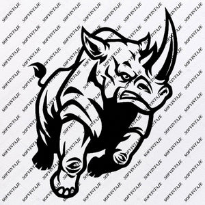 Rhino - Rhino Svg File - Animals Svg -Animals Svg - Rhino Png - Rhino Vector Graphics - Svg For Cricut - Svg For Silhouette - SVG - EPS - PDF - DXF - PNG - JPG - AI