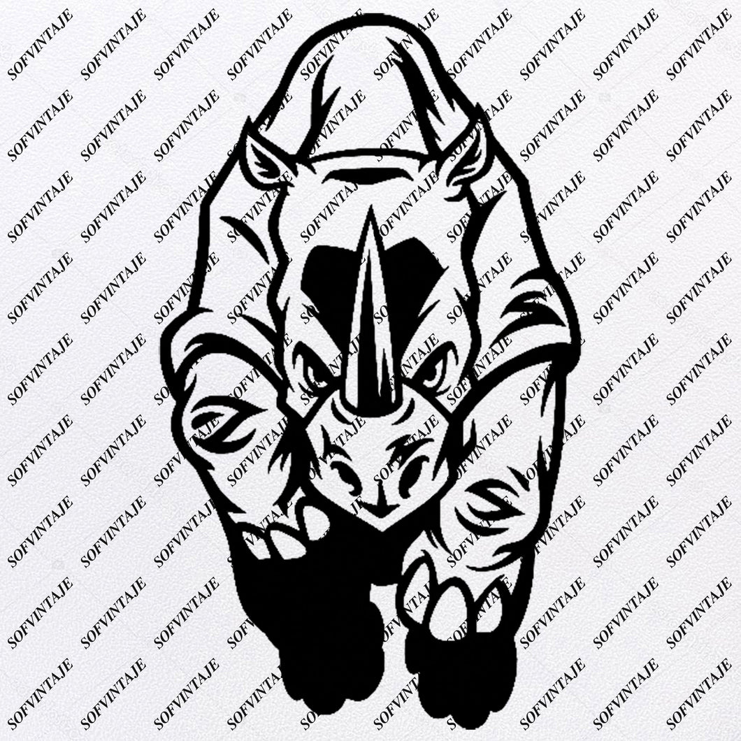 Rhinoceros Svg File - Rhinoceros Svg Design - African Animals Svg - Rhinoceros Clip art - Svg For Cricut - Svg For Silhouette - SVG - EPS - PDF - DXF - PNG - JPG - AI
