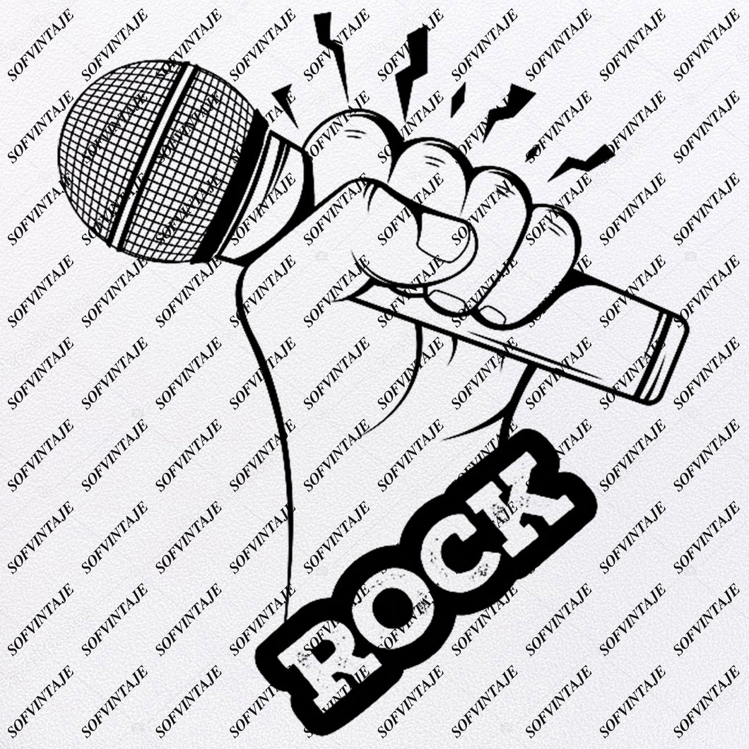Rock  Svg File-Rock  Original Svg Design-Music Svg-Clip art-Rock Vector Graphics-Svg For Cricut-Svg For Silhouette - SVG - EPS - PDF - DXF - PNG - JPG - AI