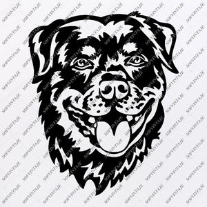 Rottweiler Svg Files - Rottweiler Silhouette - Dog Clipart - Svg For Cricut - Svg For Silhouette - Rottweiler Vector Graphics - SVG - EPS - PDF - DXF - PNG - JPG - AI
