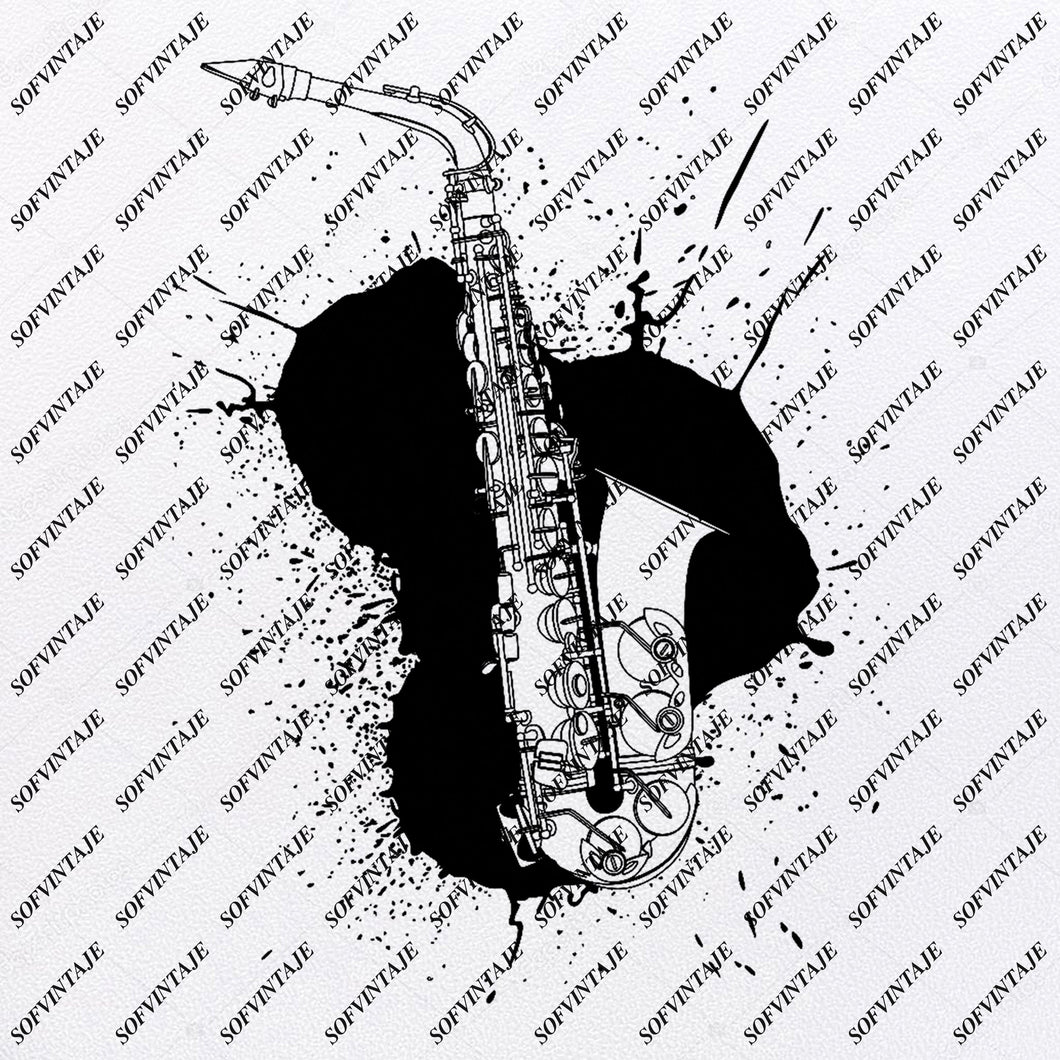 Saxophone - Saxophone music Svg File - Saxophone Svg Design - Clipart - Music Svg File - Saxophone Png - Vector Graphics - Svg For Cricut -  For Silhouette - SVG - EPS - PDF - DXF - PNG - JPG - AI