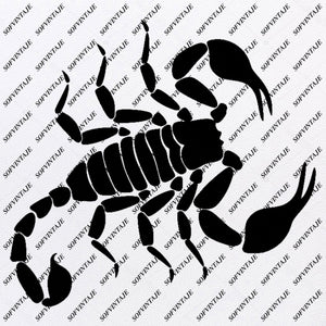 Scorpio - Scorpio Svg File - Black Scorpio - Original Svg Design - Animals Svg - Clip art - Scorpio Vector Graphics - Svg For Cricut - Svg For Silhouette - SVG - EPS - PDF - DXF - PNG - JPG - AI