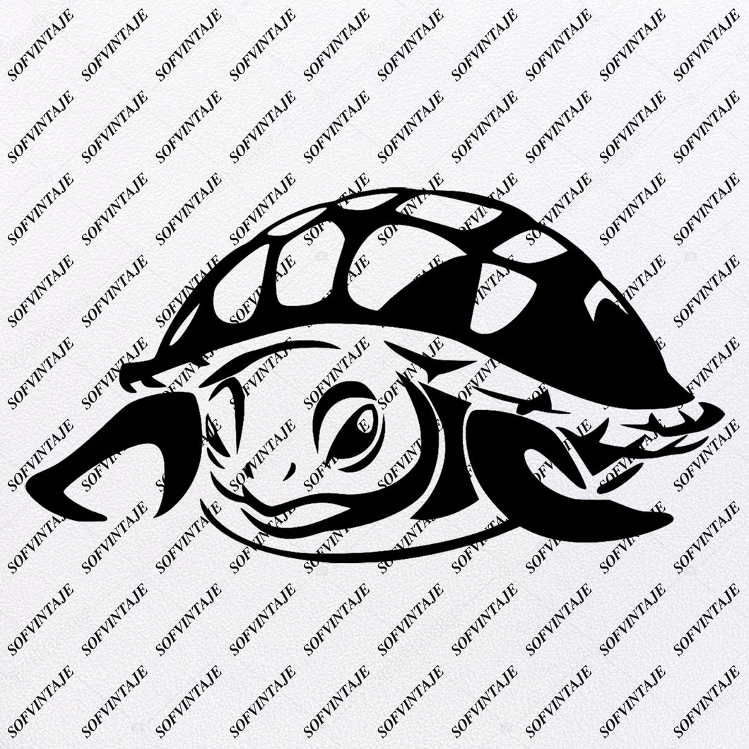 Sea Turtle - Sea Turtle Svg File-Turtle Original Design- Sea Turtle Clip art-Tattoo Svg Files - Sea Turtle Clipart -Svg For Cricut-For Silhouette - SVG - EPS - PDF - DXF - PNG - JPG - AI