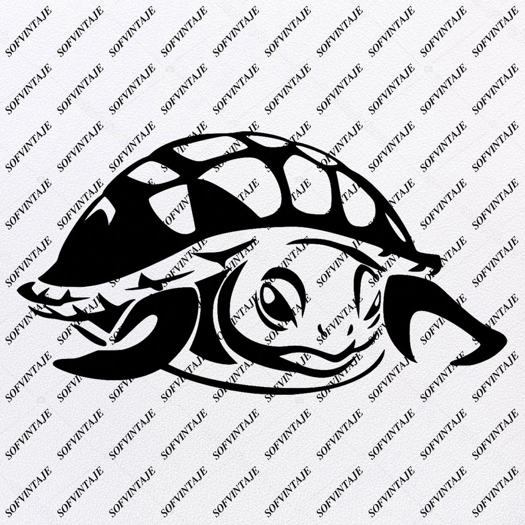Sea Turtle - Sea Turtle Svg File-Turtle Original Design - Sea Turtle Clip art - Tattoo Svg Files - Sea Turtle Clipart -Svg For Cricut - For Silhouette - SVG - EPS - PDF - DXF - PNG - JPG - AI