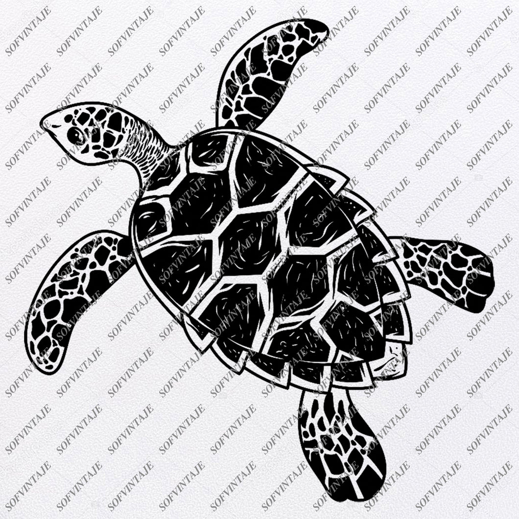 Sea Turtle Svg File-Turtle Original Design- Sea Turtle Clip art-Tattoo Svg Files - Sea Turtle Clipart -Svg For Cricut-For Silhouette - SVG - EPS - PDF - DXF - PNG - JPG - AI