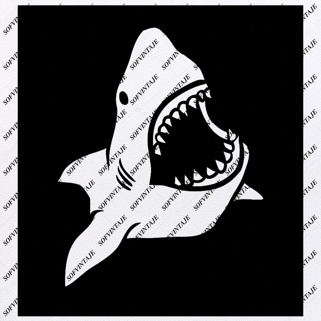Shark Svg File-Shark Tattoo Svg Design-Clipart-Animals Svg File-Animals Png-Shark Vector Graphics-Svg For Cricut-For Silhouette - SVG - EPS - PDF - DXF - PNG - JPG - AI