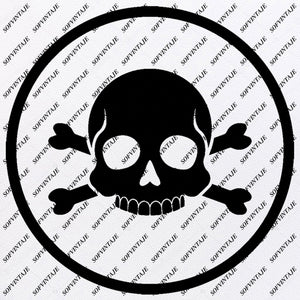 Skull - Pirate Skull Svg File- Pirate Skull Svg Design - Clipart-Skull Svg Files-Skull Png-Vector Graphics-Svg For Cricut-For Silhouette - SVG - EPS - PDF - DXF - PNG - JPG - AI