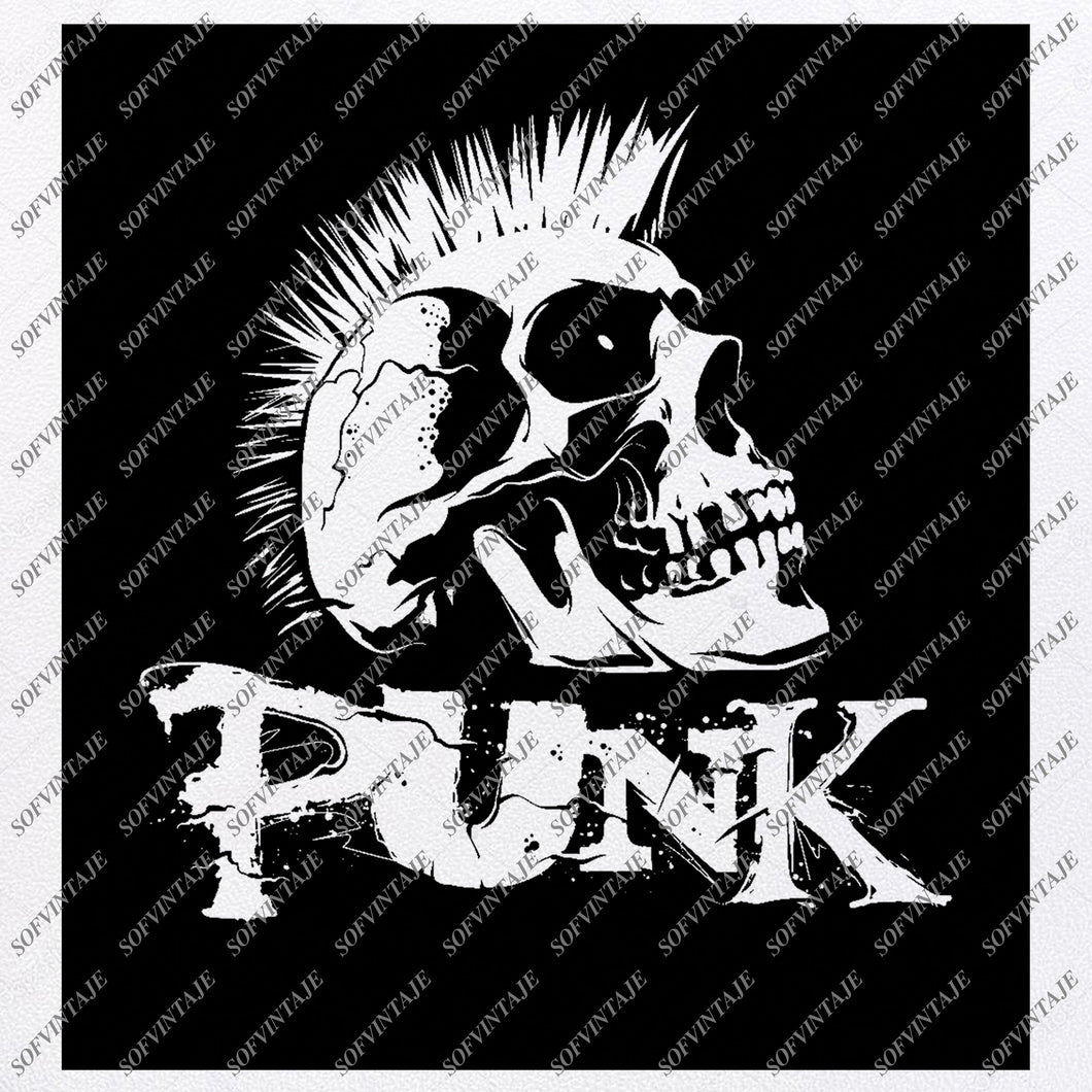 Skull - Skull Punk Svg File - Skull Svg Design - Clipart - Skull Svg Files - Skull Punk Png - Slull Punck Vector Graphics - Svg For Cricut - For Silhouette - SVG - EPS - PDF - DXF - PNG - JPG - AI