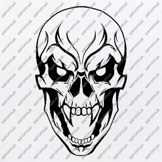 Skull Svg File-Skull Svg Design - Clipart-Motorcycles Svg File-Skull Png-Vector Graphics-Svg For Cricut-For Silhouette - SVG - EPS - PDF - DXF - PNG - JPG - AI