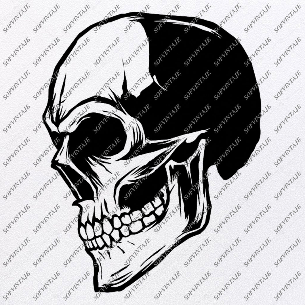 Skull Svg File - Funny Skull Svg - Svg Cutting File - Skull Clip art - Vector Graphics - Svg For Cricut - Svg For Silhouette - SVG - EPS - PDF - DXF - PNG - JPG - AI