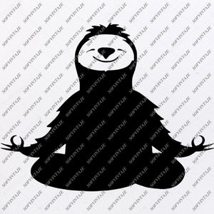 Sloth Svg File - Sloth Clip art - Animals Svg - Wild Animals Png - Sloth Vector File - Svg For Cricut - Svg For Silhouette - SVG - EPS - PDF - DXF - PNG - JPG - AI