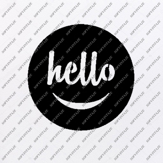 Smile Hello Svg File-Smile Svg Design-Hello Clipart-smile Svg File-Hello Png-Vector Graphics - Svg For Cricut-For Silhouette -SVG - EPS - PDF - DXF - PNG - JPG - AI