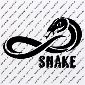 Snake - Snake Svg File - Snake - Original Svg Design - Animals Svg - Clip art - Snake Vector Graphics - Svg For Cricut - Svg For Silhouette - SVG - EPS - PDF - DXF - PNG - JPG - AI