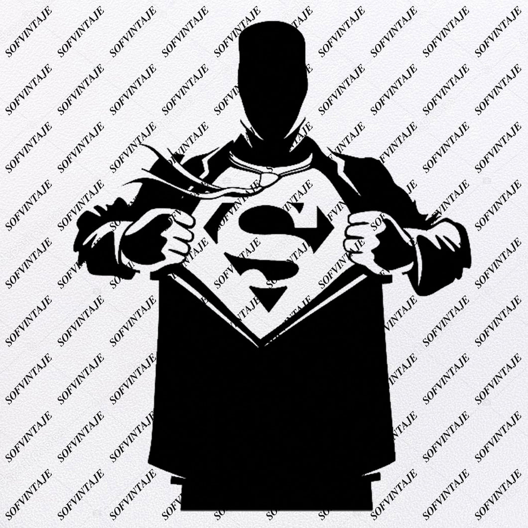 SuperMan Svg File-SuperMan  Original Svg DesignTattoo Svg-SuperMan  Clip art-SuperMan  Vector Graphics-Svg For Cricut-Svg For Silhouette - SVG - EPS - PDF - DXF - PNG - JPG - AI