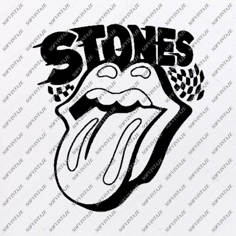 The Rolling Stones Svg File-The Rolling Stones Svg Design-Clipart-Svg-The Roling Stones Png-Vector Graphics-Svg For Cricut-For Silhouette - SVG - EPS - PDF - DXF - PNG - JPG - AI