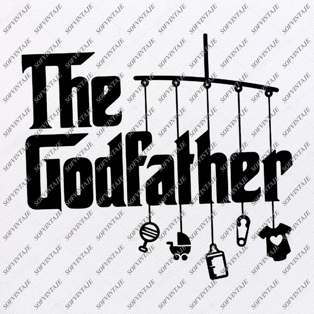 The Godfather Svg Files - Godfather Svg Original Design - Clipart - Svg For Cricut - Svg For Silhouette - Vector Craphic File - SVG - EPS - PDF - DXF - PNG - JPG - AI