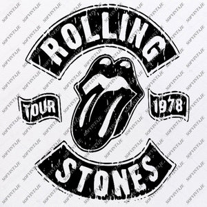 The Rolling Stones Svg File-Rock N Roll Svg Design-Clipart-Rock N Roll Svg-Vector Graphics-Svg For Cricut-For Silhouette - SVG - EPS - PDF - DXF - PNG - JPG - AI