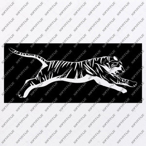 Tiger Svg File - Tiger Original Svg Design - Animals Svg - Clip art - Tiger Vector Graphics- Svg For Cricut - Svg For Silhouette - SVG - EPS - DXF - PDF - PNG - JPG - AI