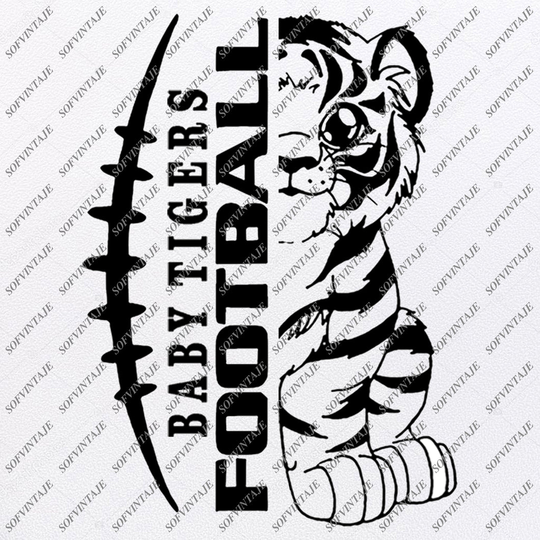 Tigers Football Svg - Baby Tigers Football Svg - Football Svg - Football Clip art - Svg For Cricut - Svg For Silhouette - SVG - EPS - PDF -DXF -PNG - JPG - AI