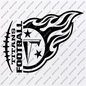 Titans Football Svg File - Football Svg - Titans Svg - Football Clip art - Team Mascot Svg - Svg For Cricut - Svg For Silhouette - SVG - EPS - PDF - DXF - PNG - JPG - AI