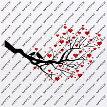 Load image into Gallery viewer, Tree Svg File-Love Tree  Svg File- Heart Original Svg Design-Tattoo Svg-Clip art-Tree Vector Graphics-Svg For Cricut-Svg For Silhouette - SVG - EPS - PDF - DXF - PNG - JPG - AI