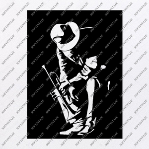 Trumpeter Saxophonist Svg File-Msic Original Svg Design-Music Svg-Clip art -Vector Graphics-Svg For Cricut - Svg For Silhouette - SVG - EPS - PDF - DXF - PNG - JPG - AI
