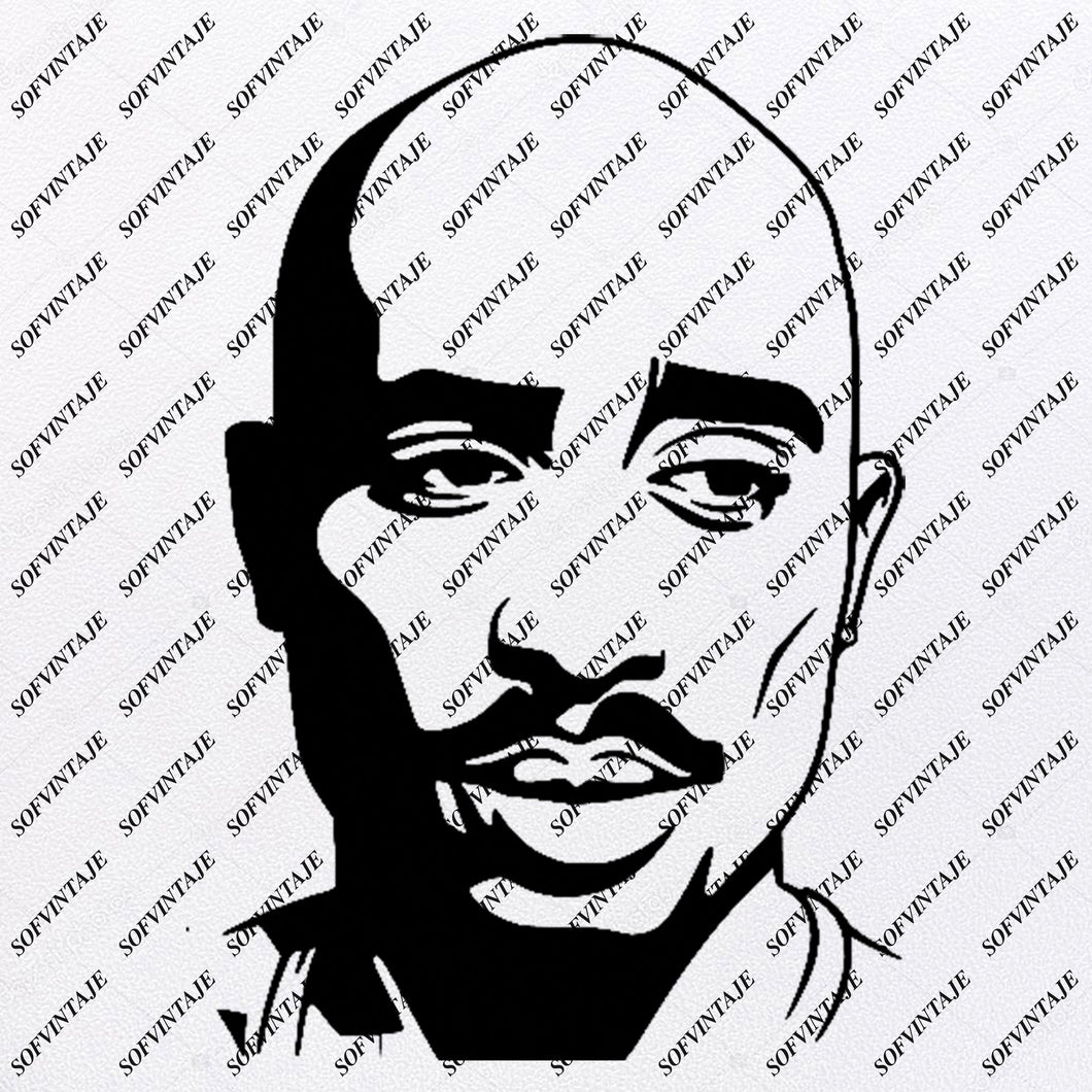 Tupac Shakur - 2pac Svg File - Tupac Shakur Svg Design - Clipart - Singer Hip Hop Svg File - Actor Png - Vector Graphics - Svg For Cricut - For Silhouette - SVG - EPS - PDF - DXF - PNG - JPG - AI