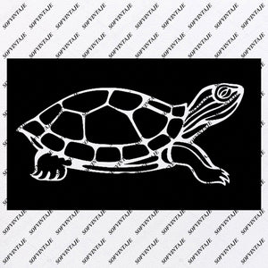 Turtle Svg File-Turtle Original Design-Turtle Clip art-Tattoo Svg Files - Turtle Clipart -Svg For Cricut-For Silhouette - SVG - EPS - PDF - DXF - PNG - JPG - AI