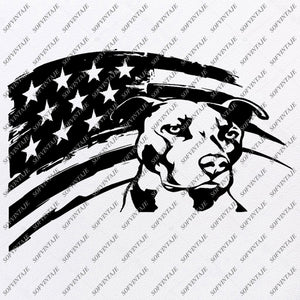 USA Flag - Pitbull dog Svg file - Pitbull Svg Original Design - Dog Clip art - Animals Svg File - Vector Graphics - Svg For Cricut - For Silhouette - SVG - EPS - PDF - DXF - PNG - JPG - AI
