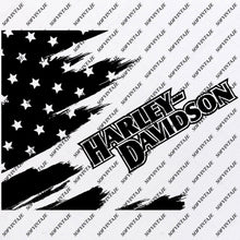 Load image into Gallery viewer, Usa Flag Svg Files - Harley Davidson Svg- Flag Design - Original Design - Svg Files For Cricut - Svg For Silhouette - American Flags Clip art - Flags - SVG - EPS - PDF - DXF - PNG - JPG - AI