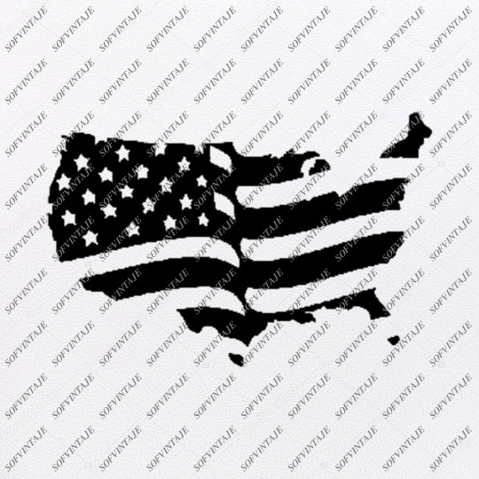 Usa Svg File-Country Usa Original Design-Usa Flag Clip art-Flag Country Svg Files-Clipart-Svg For Cricut-For Silhouette - SVG - EPS - PDF - DXF - PNG - JPG - AI