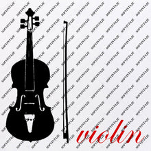 Load image into Gallery viewer, Violin Svg File-Violin music Svg Design-Clipart-Violin Music Svg File-music Png-Vector Graphics -Svg For Cricut-For Silhouette - SVG - EPS - PDF - DXF - PNG - JPG - AI